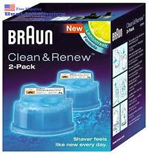 2 Count Braun Clean Renew Cartridge Refills Series 3 5 7 Genuine Shaver Cleaner