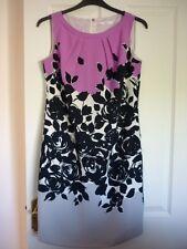 MARKS & SPENCER NAVY PINK GREY IVORY COLOURBLOCK SHIFT DRESS UK 10, EUR 38, US 6