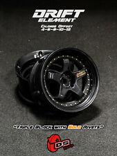 DS Racing Drift Elements Changeable Offset Wheels/Rims - Black - 1/10 RC DRIFT