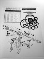 Seal Kit - Greenlee / Fairmont HW-1 Hydraulic Impact Wrench Seal Kit No. 00403