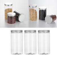 Vasi per contenitori in plastica PET vuoti trasparenti da 3 pezzi con tappo a