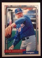 GOOSE GOSSAGE 1992 Topps Autographed Auto Signed  Baseball Card HOF Rangers 215