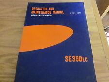 Volvo SE350LC Excavator Operation & Maintenance Manual