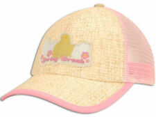 Easter Peeps Spring Break Straw Pink Mesh Hat Cap Lid Chicks Adjustable Snapback