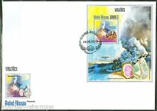GUINEA BISSAU 2013  VOLCANOES & MINERALS SOUVENIR SHEET FIRST DAY COVER