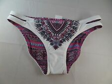 NWT Lucky Brand Reversible Bikini Bottoms Sz Small Scrunch bum Sexy Hot hipster