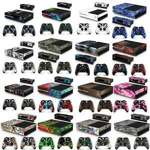 Xbox One Console + 2 Controllers & Kinect Skin Vinyl Cover Decal Stickers