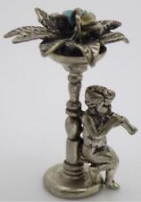Vintage Solid Silver Italian Made Floor Vase & Angel Figurine Hallmark Miniature