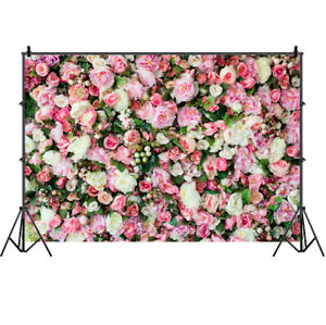 Flower Wall Photo Backdrop Bridal Baby Shower Wedding Party Background Banner