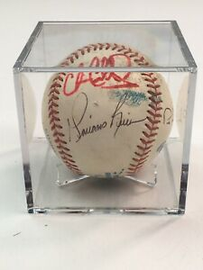 MARIANO RIVERA NEW YORK YANKEES HOF SIGNED AUTO EARLY VINTAGE GAME USED BASEBALL