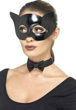 Ladies Sexy Black Cat Super Hero Halloween Fancy Dress Costume Outfit Kit