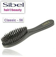 Natural Wood Finish Medium Boar Bristle Hair Brush Hairbrush By Sibel C-56