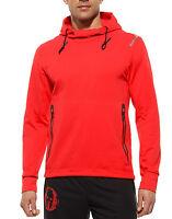 Men's New Reebok Spartan Training Hoodie Hoody Sweater Jumper Top - Red