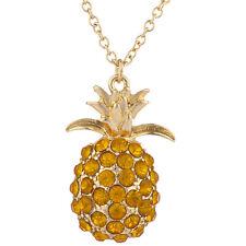 Lux Accessories Goldtone Pineapple Tropical Fruit Charm Pendant Necklace