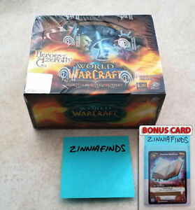 World of Warcraft TCG Heroes of Azeroth Factory Sealed Booster Box 24 Packs!