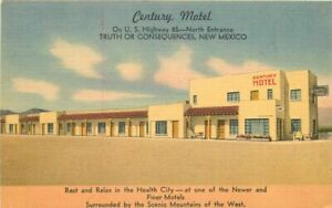 Century Motel Truth or Consequences New Mexico McGarr Roadside Postcard 20-12080