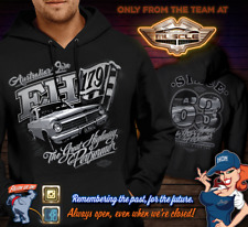 HOLDEN EH HOODY BLACK FRONT BACK PRINT FROM HOUSE OF MUSCLE