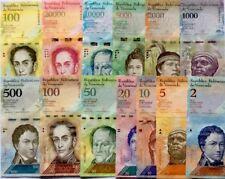 VENEZUELA 2011 2016 2-100000 GREAT COLOURFUL UNCIRCULATED BANKNOTES SET 13 Pcs