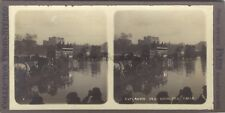 Inondation Paris 1910 Esplanade des Invalides STEREO Stereoview Vintage