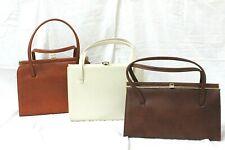 3 X Vintage Leather Ladies Bags