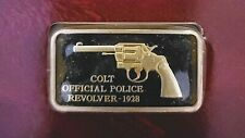 "AMERICAN WEAPONS HALL OF FAME 24K GOLD PLATED INGOT ""COLT POLICE REVOLVER"""