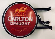 Carlton Draught Beer Bar Lighting Wall Sign Light LED Man Cave Christmas Gift