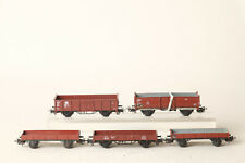 Märklin H0 fünf Güterwagen Niederbord und Hochbordwagen Spielzeug (183869)