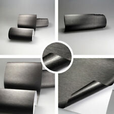 (6,57?/m²) Aluminium gebürstet GRAU 1m x1,52m ALU Auto Folie BLASENFREI Brushed