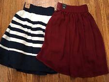 NWT Hollister Skirt Lot Size M Juniors Summer Maroon Blue & White Nautical