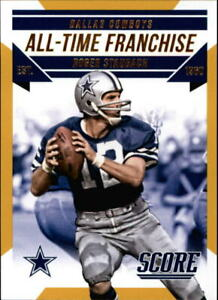 2015 Score All-Time Franchise Gold #8 Roger Staubach - NM-MT