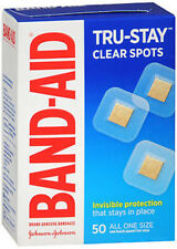 Band-Aid Clear Spots Adhesive Bandages All One Size - 50 ct