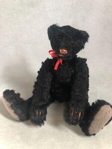 "6"" OOAK Lovable Black Artist Pocket Bear by Cindy Martin of Yesterbears, Jointed"