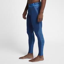 Nike Pro HyperWarm Men's Training Tights XL Blue Gym Runnning New