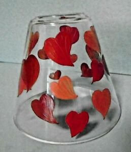 Red & Pink Hearts Glass Shade Valentines Love