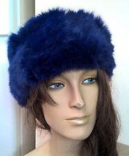 Royal Blue Reale vera pelliccia di coniglio pelliccia Orecchio Scalda Cappello Fascia Unisex