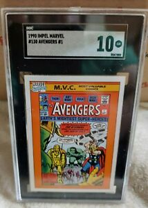 1990 Impel Marvel Universe Avengers #1 #130 SGC 10 GEM MINT
