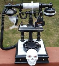 NWT Halloween Decor Indoor Tabletop Victorian Phone Light & Spooky Sound Effects