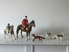 RARE Vintage Beswick The Hunt Collection 5piece horses,fox,hounds good condition