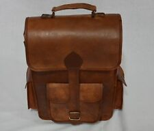 Unique Genuine vintage Leather Bag Rucksack Backpack Brown Travel Retro Handmade