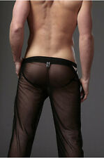 Pantalon sheer taille L noir totale transparence sexy neofan gay inter SEUL P