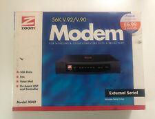 Zoom Model 3049 56K V.92/V.90 External Data/Fax Modem 3049-72-00 C