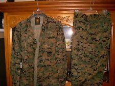 USMC MARPAT Uniform WOODLAND Combat Shirt & Pants in size MEDIUM Regular