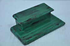 1920's Old Wooden Handcrafted Green Inkpot , Collectible