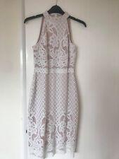 ASOS PETITE WHITE/PINK Bodycon Dress Size 10