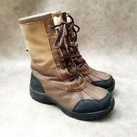 Altitude Womens Mongolia Sz 7 M Brown Leather Lined Lace Up Ankle Boot Booties
