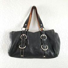 Coach Chelsea Turnlock Satchel Black Leather Handbag Shoulder Bag
