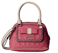 Guess Dolled Up Small Satchel Tote Handbag, Passion