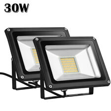 2X 30W LED Flood Light Warm White Outdoor Garden Landscape Lamp Spotlight 110V