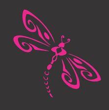Dragonfly Pink 318- Die Cut Vinyl Window Decal/Sticker for Car/Truck