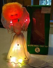 Vintage 10 Lite Christmas Angel Tree Top, Commodore Mfg, New old stock